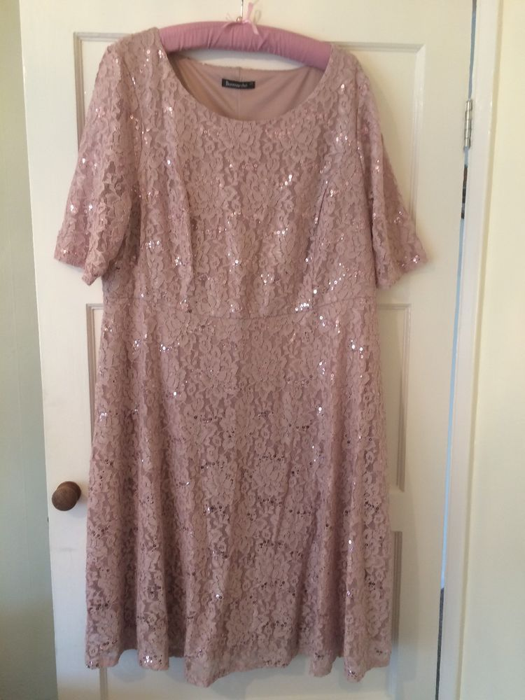 e4c16bee8a7 Bonmarche Plus Size 22 Dress.Pink Lace  Sequins  fashion  clothing  shoes   accessories  womensclothing  tops (ebay link)
