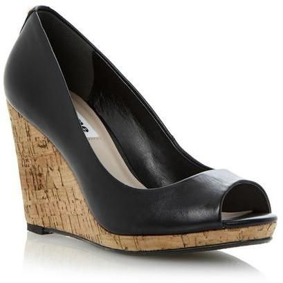 780cb12ceb Dune Cork Wedge Peep toe Court Shoe on shopstyle.co.uk | Shoes ...