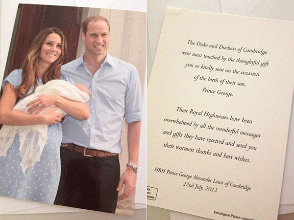 Prince William And Kate Send Royal Thank You  Prince William