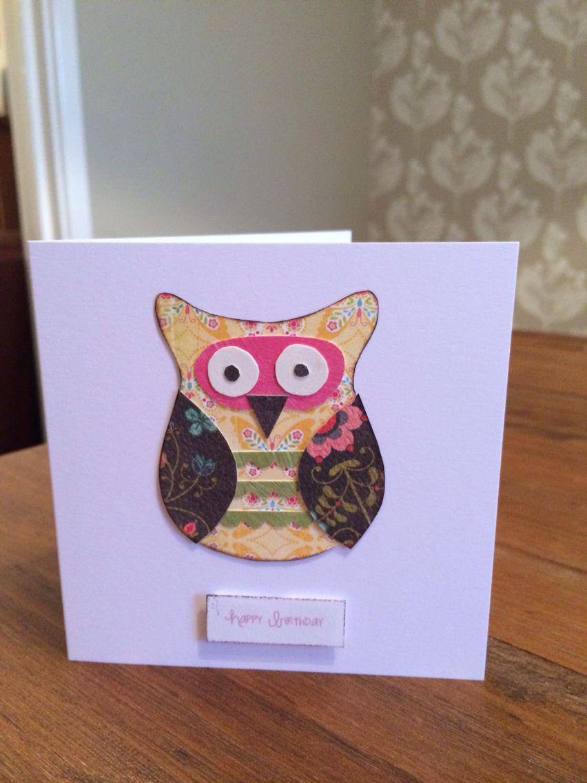 birthday card owl  cards handmade birthday cards cards