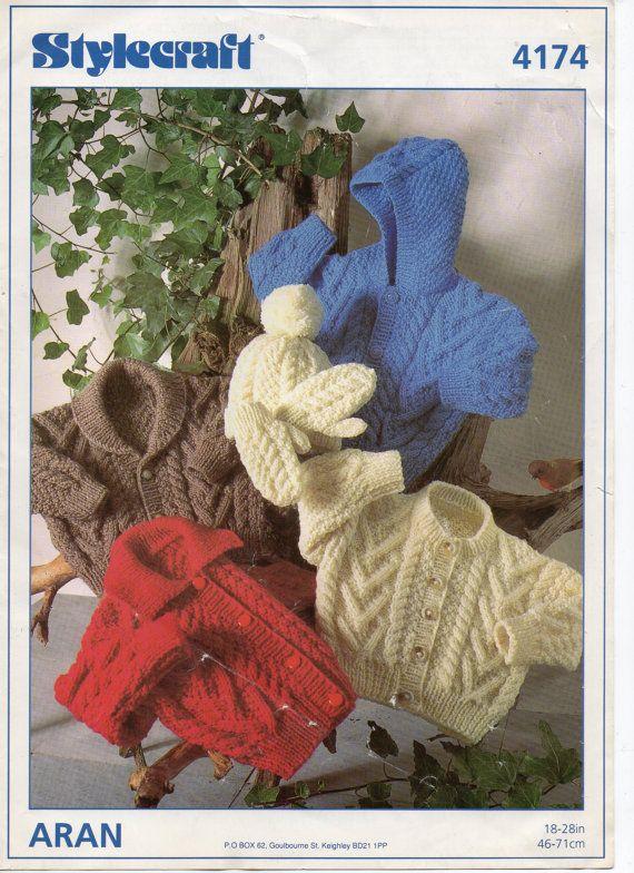 96a49575c Baby toddler childrens aran cardigan knitting pattern pdf download ...