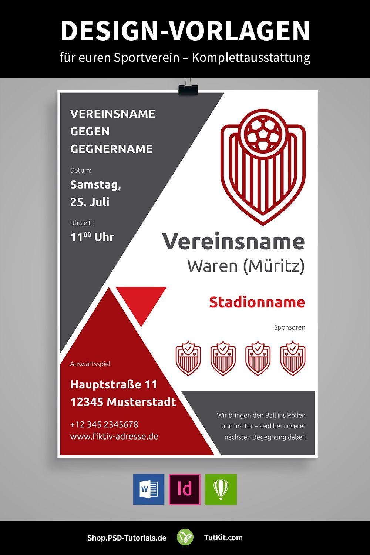 Design Vorlagen Fur Vereine U A Bannerwerbung Spendenscheck Banner Werbung Verein Sportverein