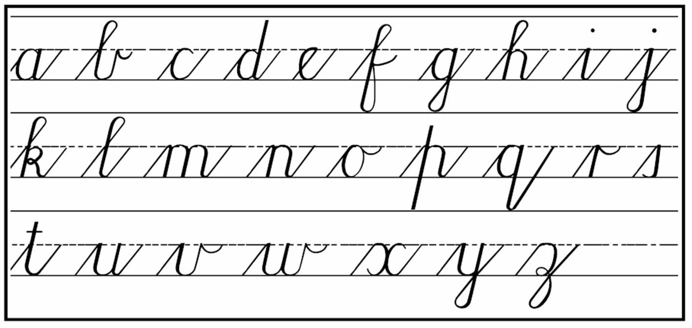 Worksheet Free Printable Cursive Alphabet Chart 17 best images about cursive handwriting how to on pinterest letter form practice and practice