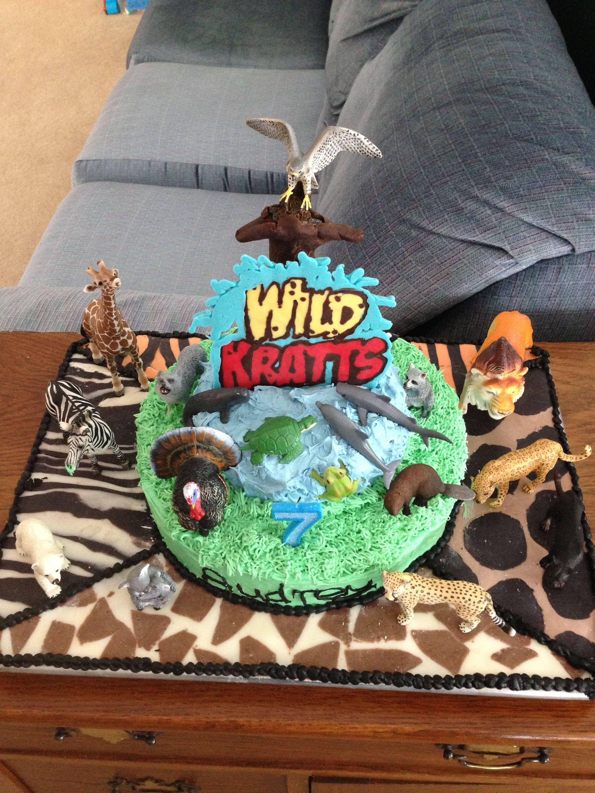 Miraculous Wild Kratts Birthday Cake For Audreys 7Th Modeling Chocolate Personalised Birthday Cards Akebfashionlily Jamesorg