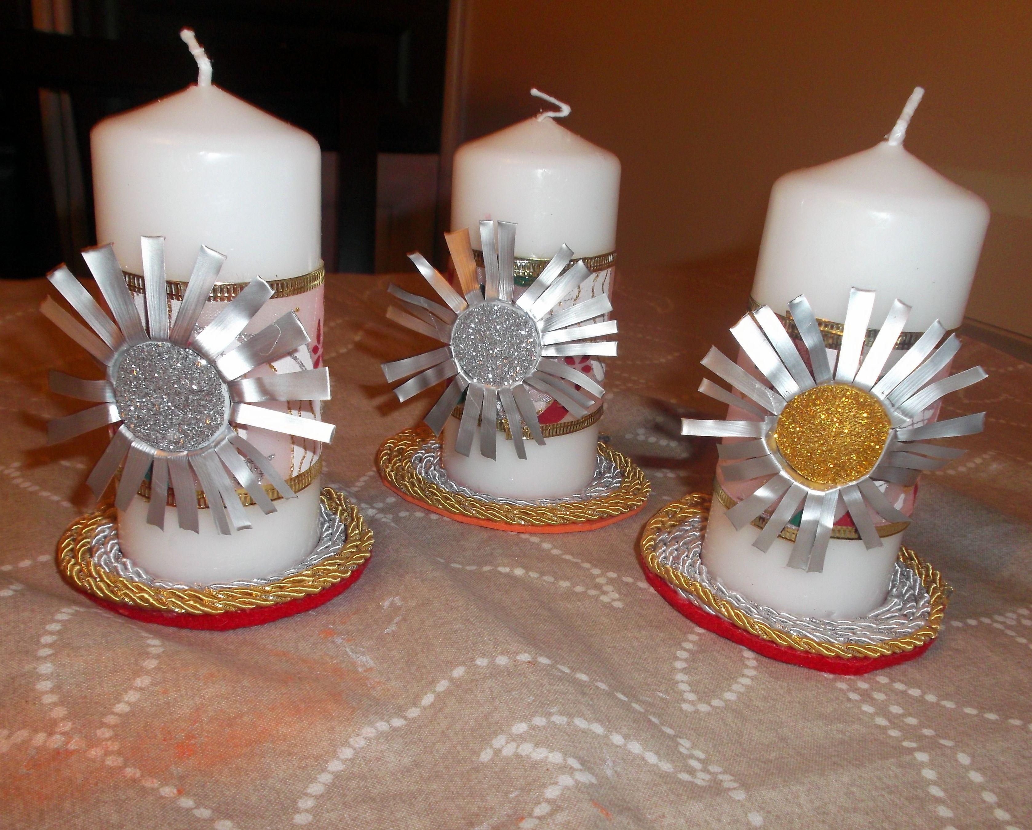 Bola de navidad con botes de conservas y velas decoradas con capsulas de nespresso velas - Velas decoradas para navidad ...