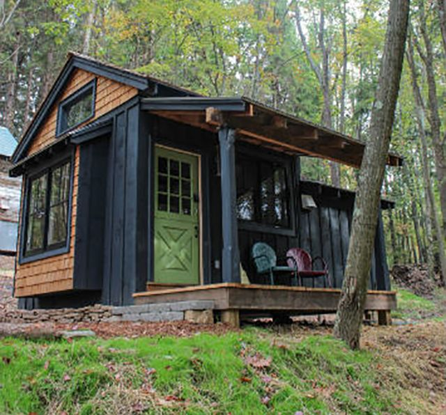 Tiny cabin is a sustainable maine eco resort sustainable for Maine eco homes