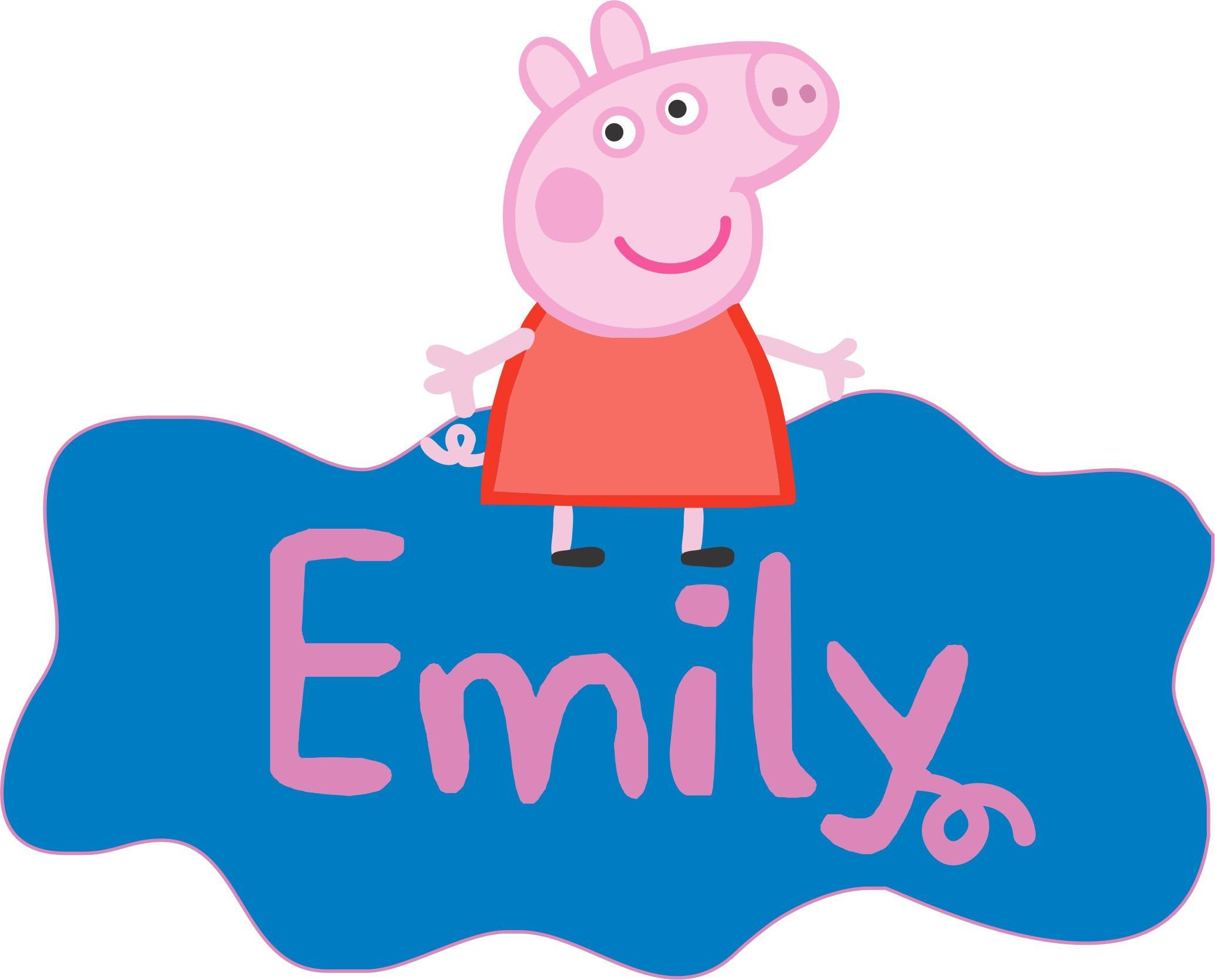 Peppa Pig Logo Name Personalized Peppa Pig Birthday Sign Peppa