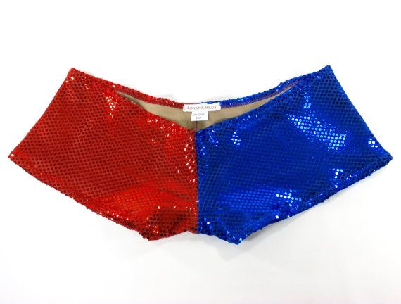 Harley Quinn Suicide Squad Inspired Shorts ~ Red/Blue Dot Sequin ...