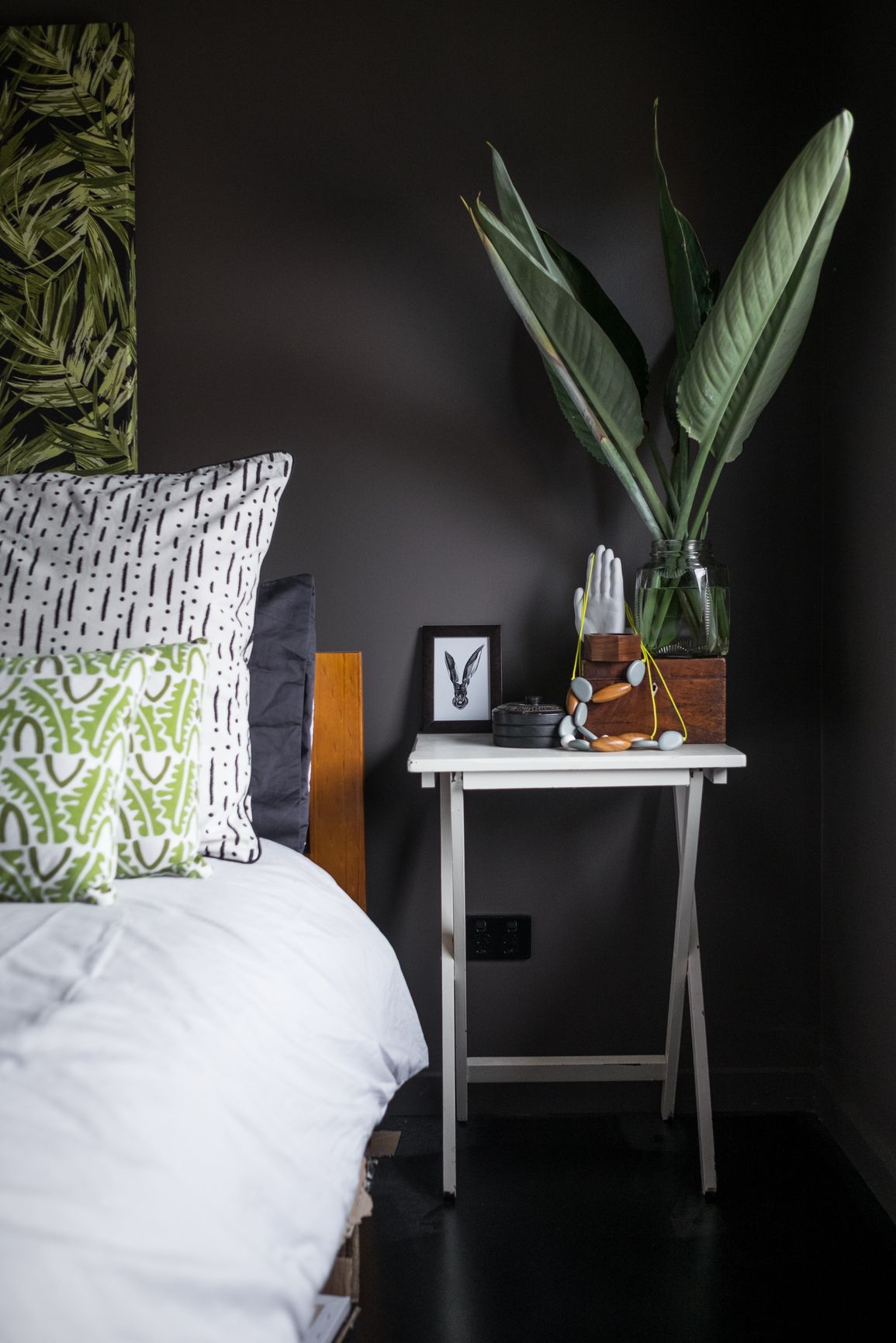 Styled bedroom interior