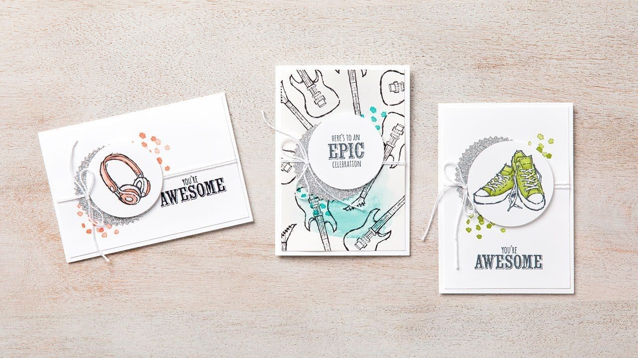 Epic celebrations by stampin up hand making cards