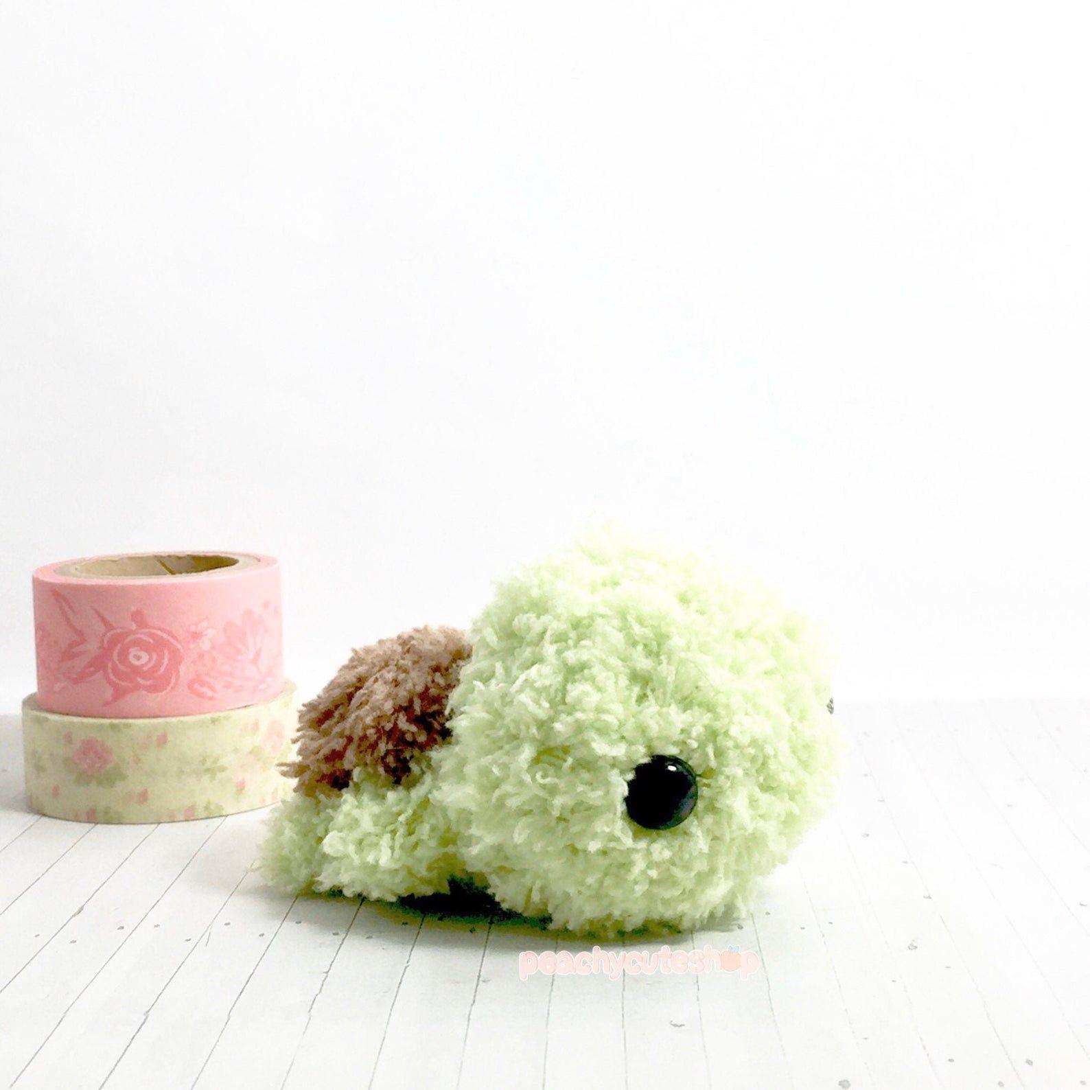 Turtle Plush - Fluffy Turtle - Amigurumi Turtle - Kawaii Amigurumi - Turtle Toy - Turtle Stuffed Animal - Crochet Turtle - Gift For Teens