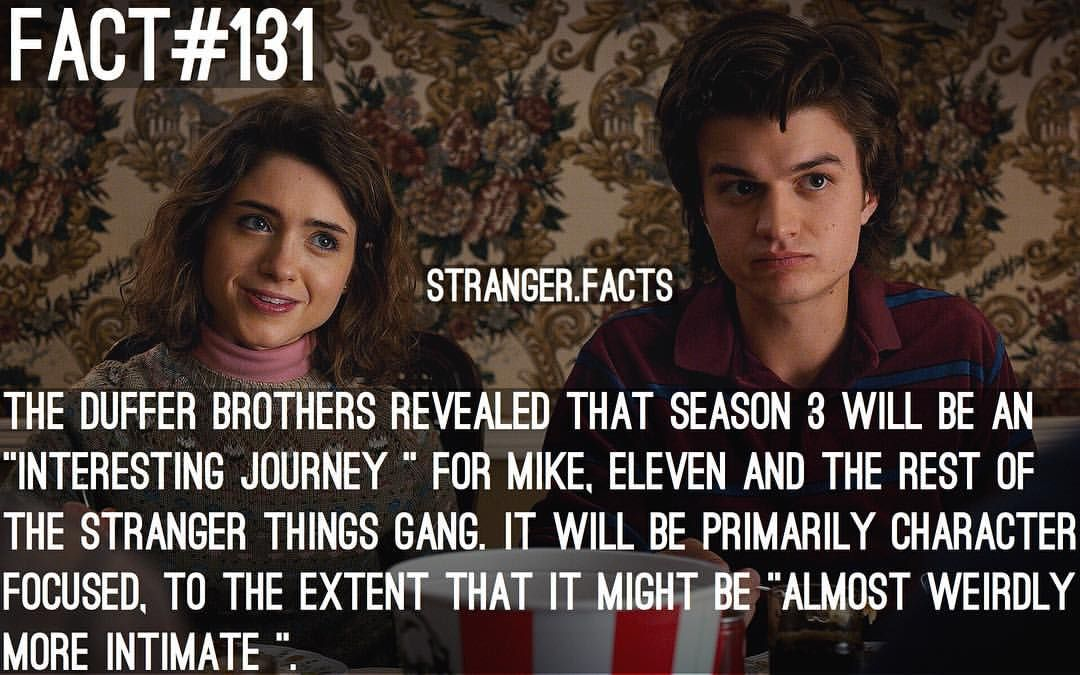 """148 Likes, 3 Comments - Stranger Things (@stranger.facts) on Instagram: """"The wait is too long #eleven #mikewheeler #dustin #lucas #willbyers #nancywheeler #barb…"""""""