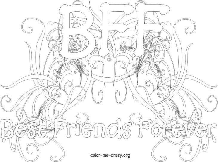 Free Online Bff Coloring Page For Teenagers Letscolorit Com