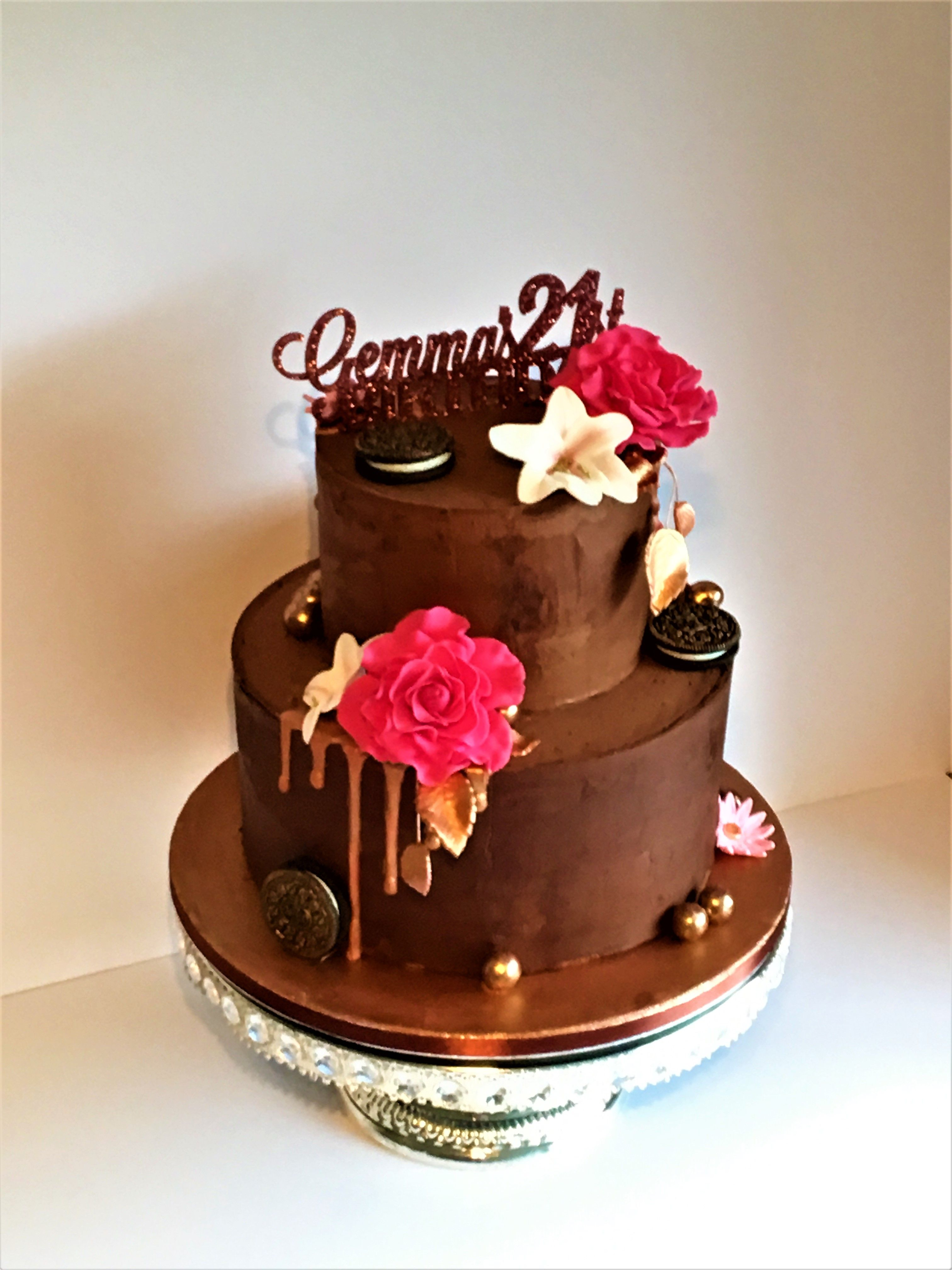 21st Birthday Cake Chocolate Drizzle
