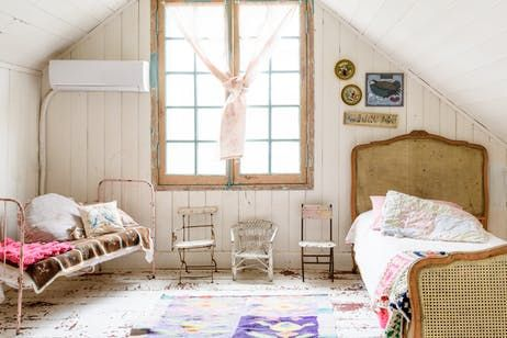 A Dreamy Collected Buenos Aires Home In The Country Attic Renovation Attic House Attic Remodel