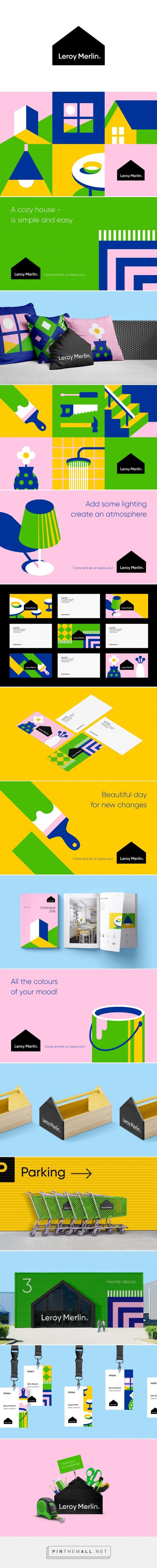 Leroy Merlin Home Goods Retailer Branding By Berik Yergaliyev Identity Design Logo Branding Design Branding Design Logo