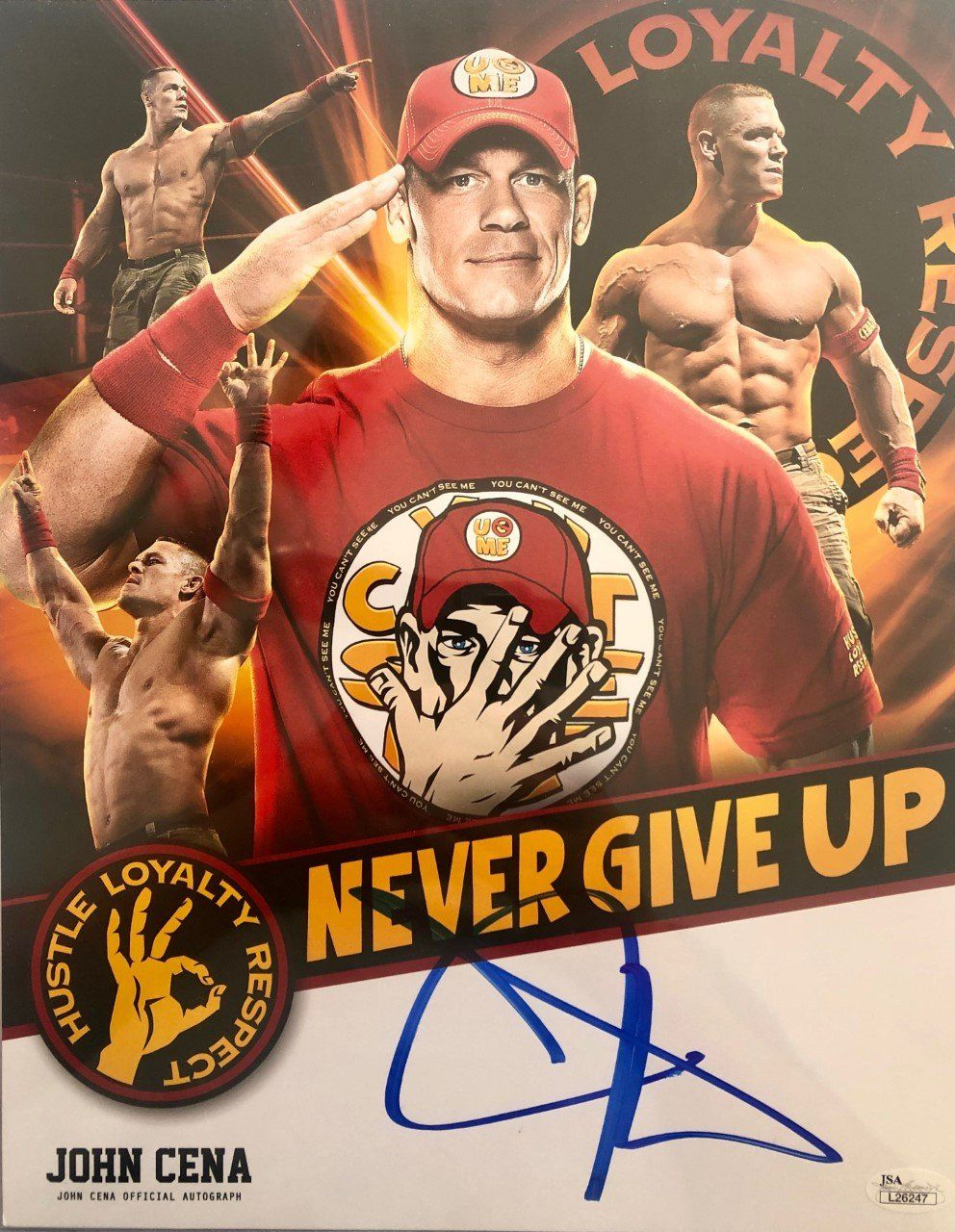Wwe John Cena 11x14 Signed Photo Official Autograph Jsa