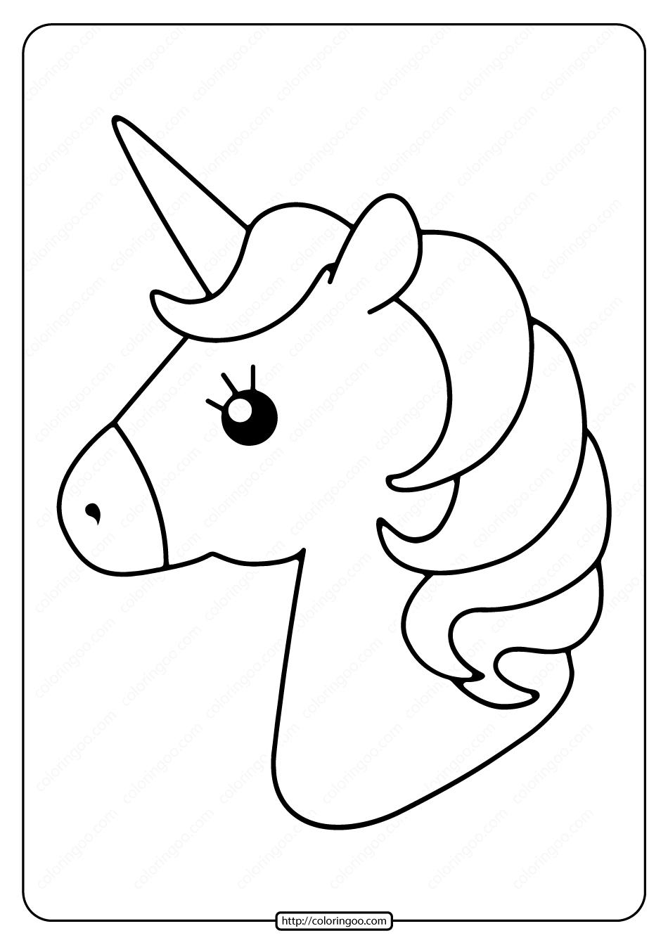 Free Printable Cute Unicorns Pdf Coloring Page in 20  Free kids
