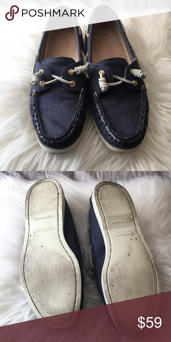 d861d5a292 Navy Sperry Top-Siders Worn only a few times. Very comfortable and cute. Sperry  Shoes Flats   Loafers