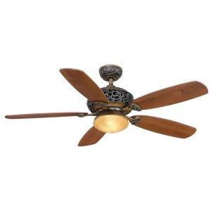 Hampton Bay 52 In Indoor Caffe Patina Ceiling Fan With Light Kit