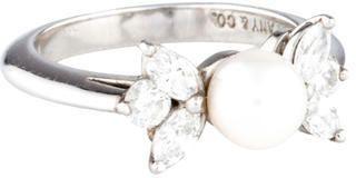Tiffany & Co. Pearl & Diamond Ring