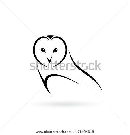 Barn Owl Vector Illustration Owl Tattoo Small Simple Owl Tattoo Owl Vector