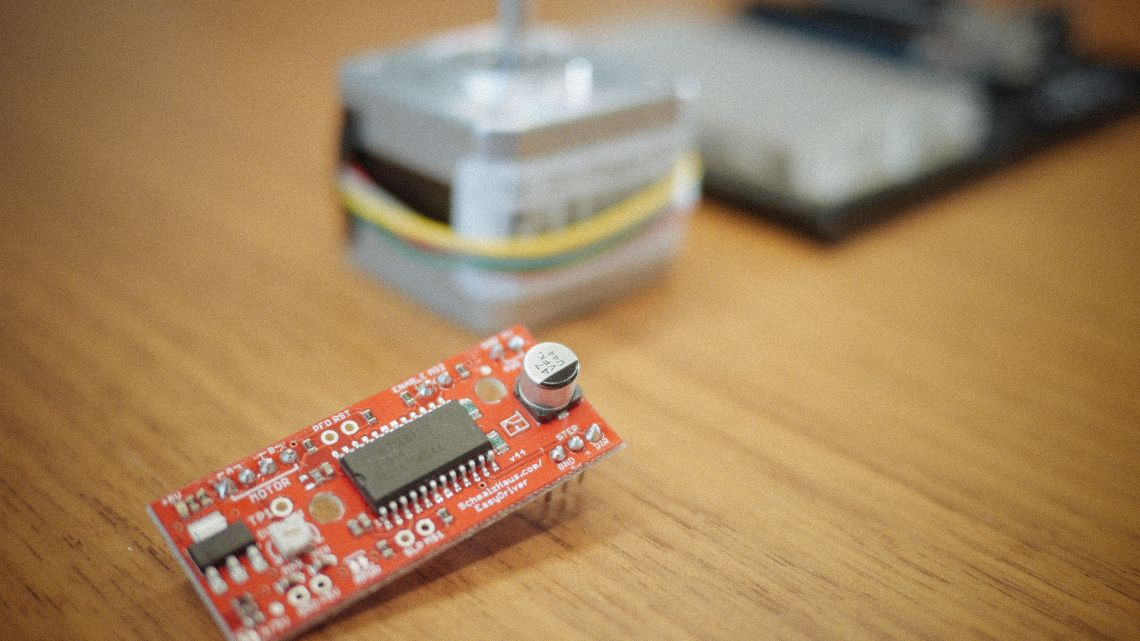 Arduino Tutorial Easydriver And Stepper Motor Head Stepper Motor