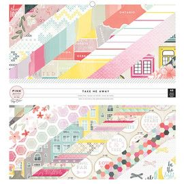 Pink Paislee Take Me Away 12x12 Paper Pad and Collection is 50% off today!