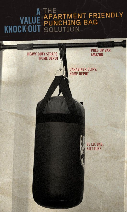 How To Make A Punching Bag Apartment Friendly Punching Bag Punching Bag Workout At Home Workouts