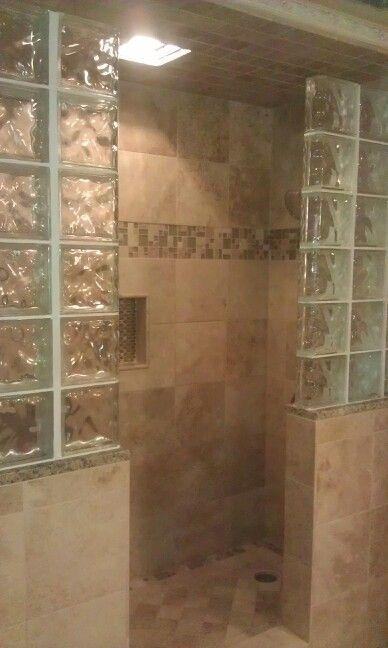 Glass and Stone shower