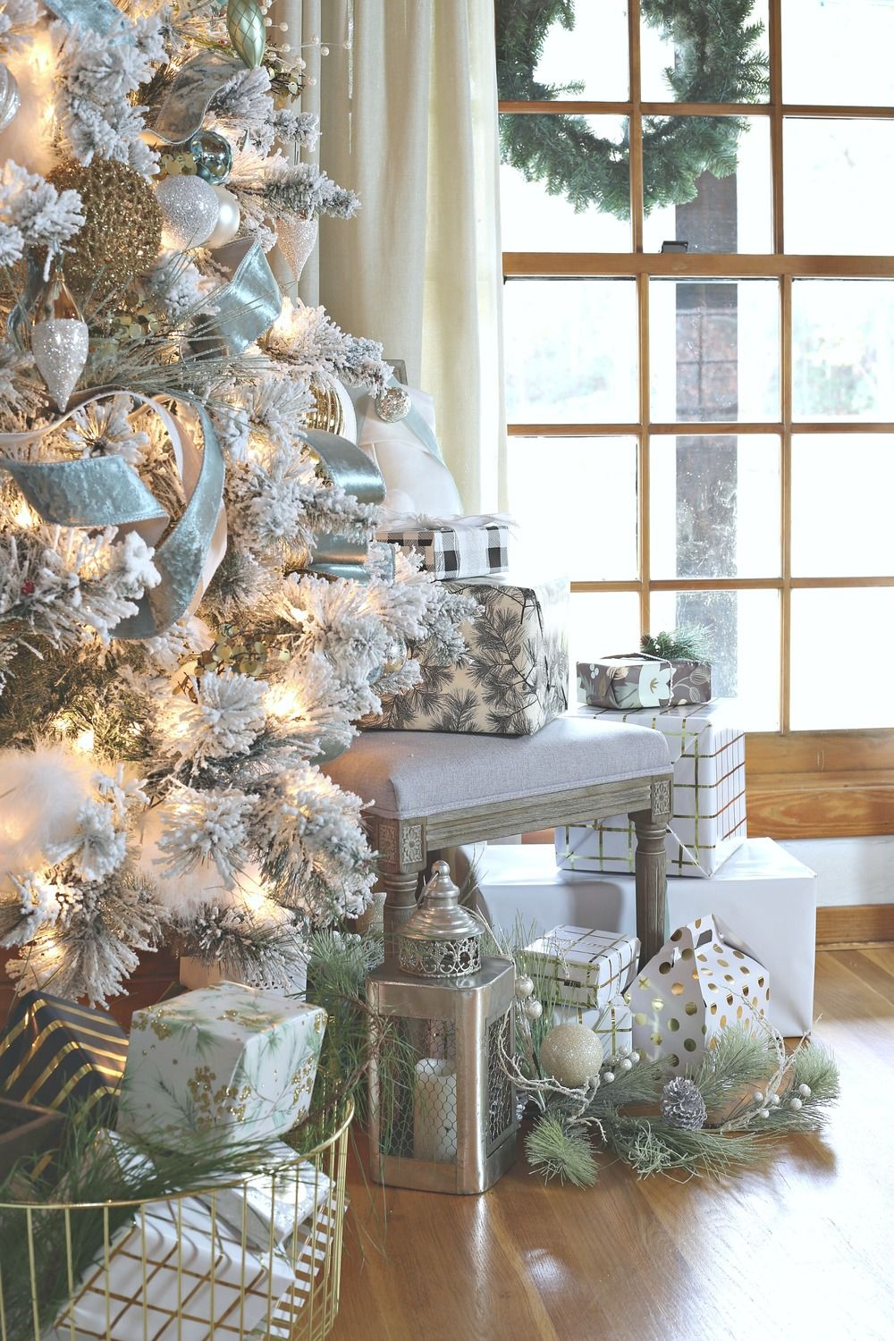 Modern Farmhouse Christmas Home Tour Christmas Tree With Presents Christmas Home Farmhouse Christmas