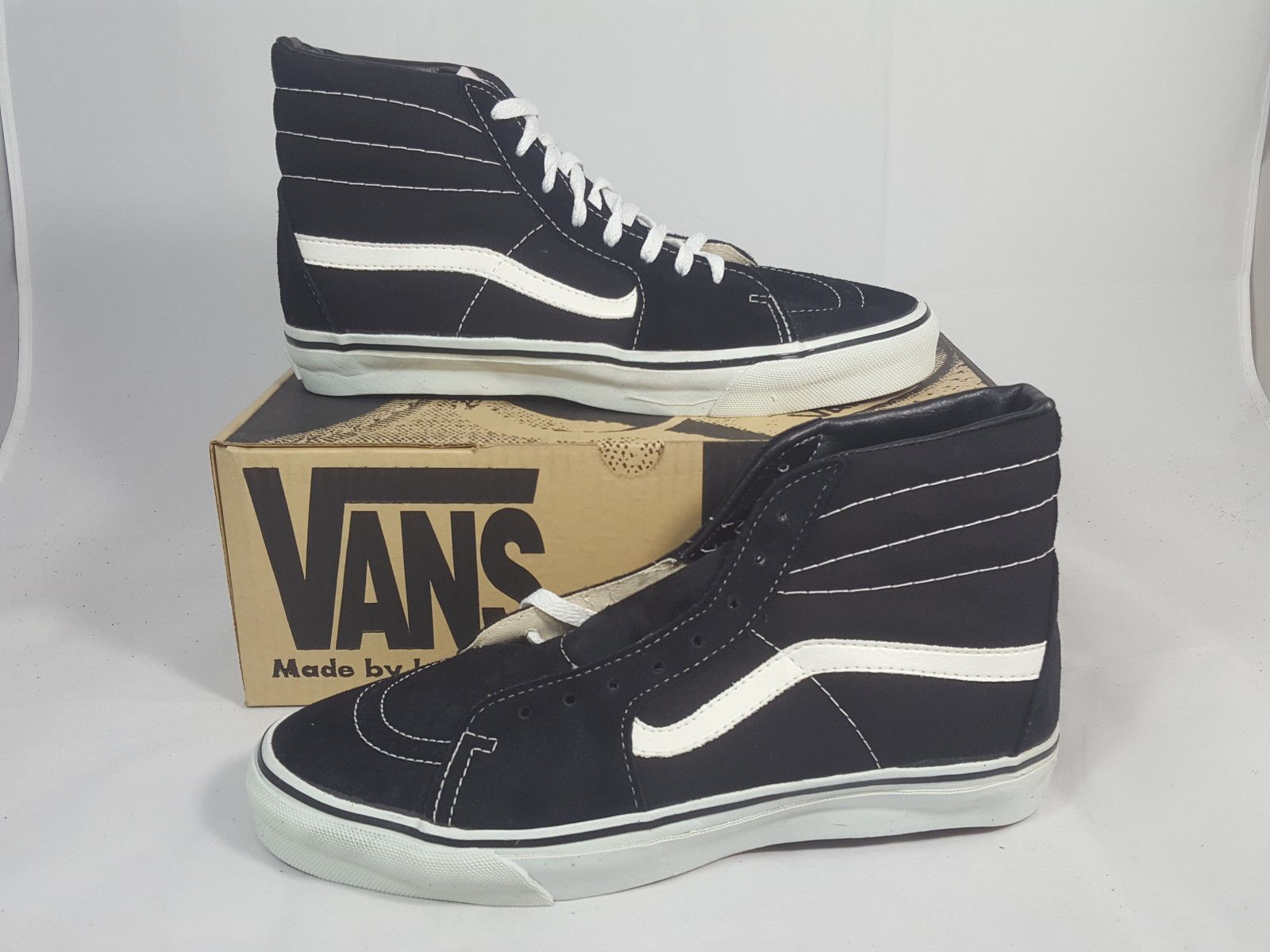 b72555d015 Vintage Vans shoes SK8 HI BLACK made in USA Men s Size 11 NOS Old Skool 80s