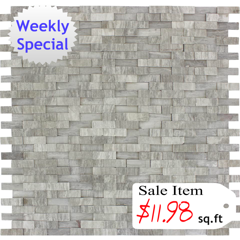 discount glass tile store white oak splitface pattern on sale sqft
