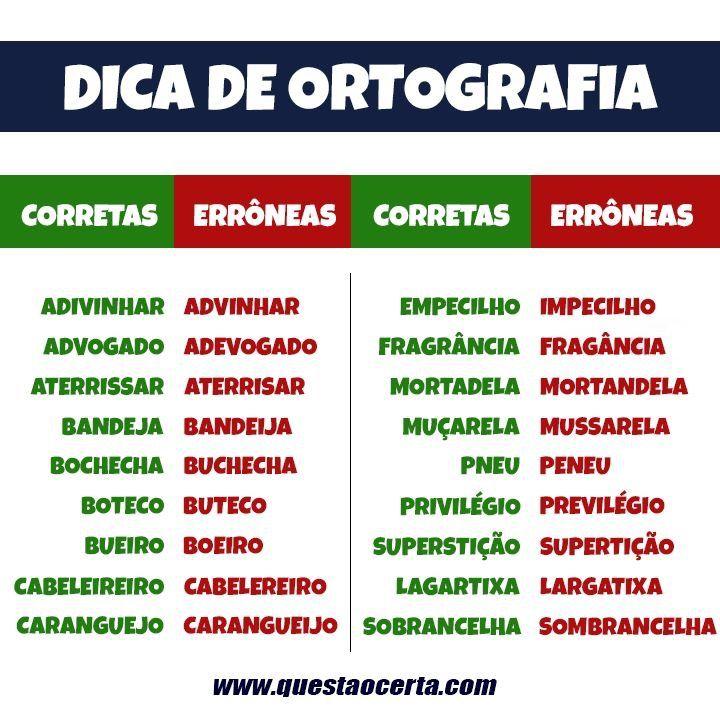 Well-known Pin de Cris Dantas em Dicas de Português | Pinterest | Português  RQ11