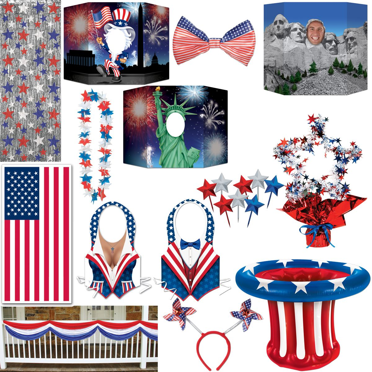 american decoration usa theme party decoration new york red blue white america 30 birthday. Black Bedroom Furniture Sets. Home Design Ideas