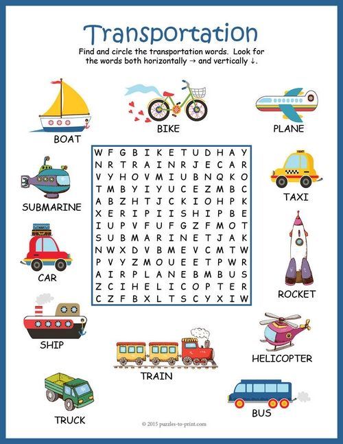 transportation word search puzzle word search vocabulary words and transportation. Black Bedroom Furniture Sets. Home Design Ideas