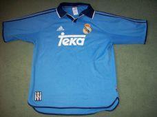 wholesale dealer d0a7a 70e1d 1999 2000 Real Madrid Away Third Football Shirt Adults ...