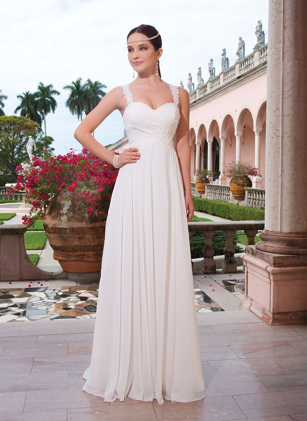 Sweetheart gowns sweetheart style chiffon slim aline gown with