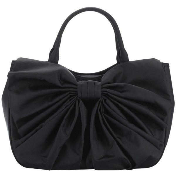 Lulu Guinness Bow Wanda Nylon Grab Handbag