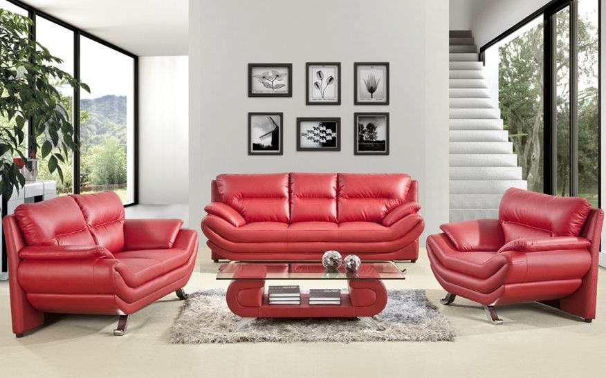 Decorating Ideas With Red Leather Sofa   Red leather couch ...