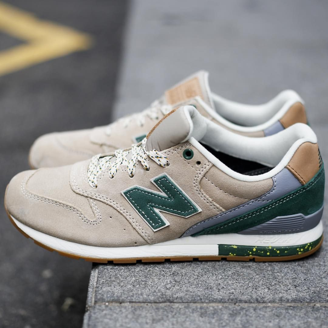 Leftfootsg On Instagram And I Would Walk 500 Miles Newbalance Madebynb White Tan Sand Suede Green Beige Speckle Sneakers New Balance Sneaker Boots