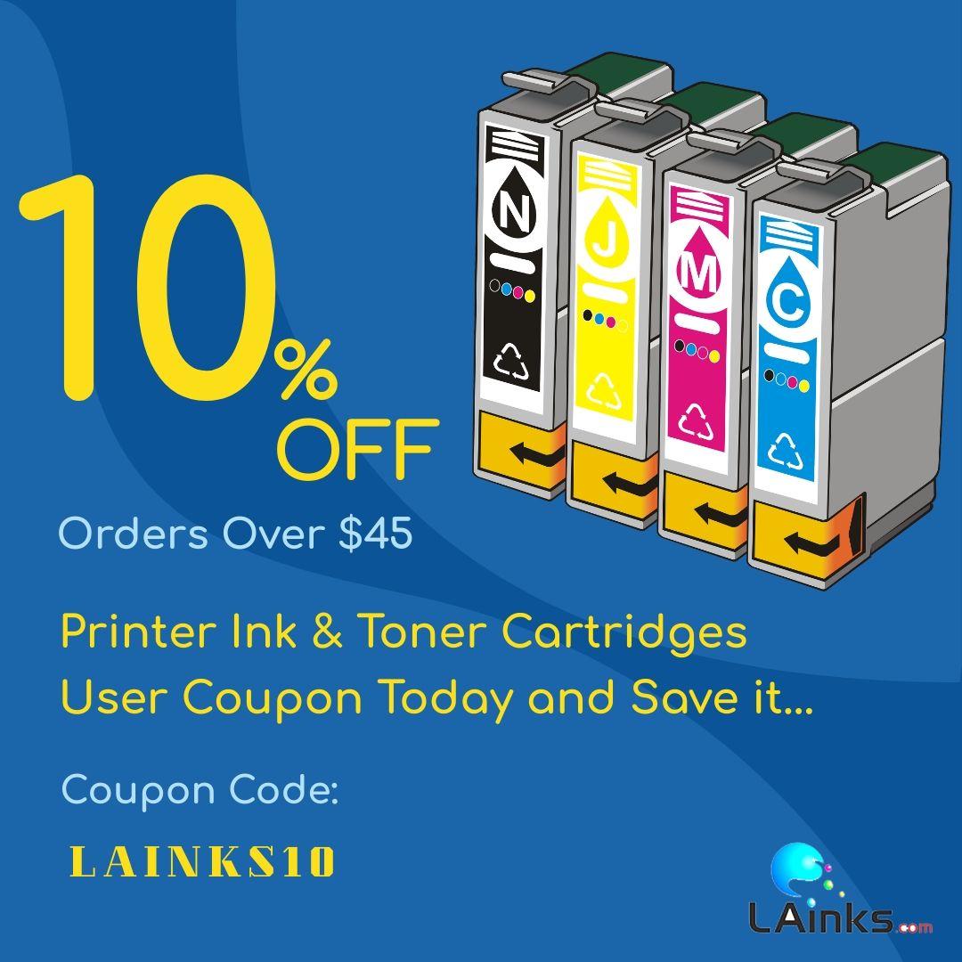 Get Your 10 Off Orders Over 45 Inkjets Printers Ink Toner Cartridges Printer Inkt