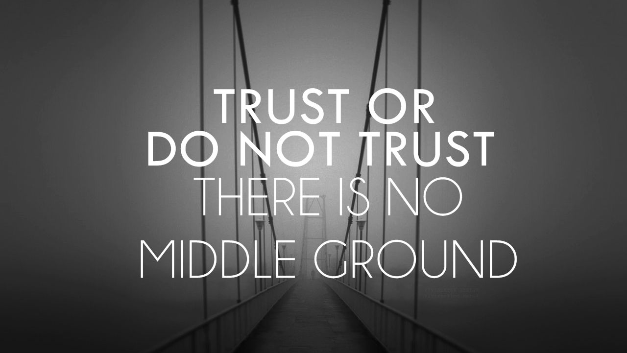 Futures Quotes Trust Or Do Not Trustthere Is No Middle Ground Trust Middle