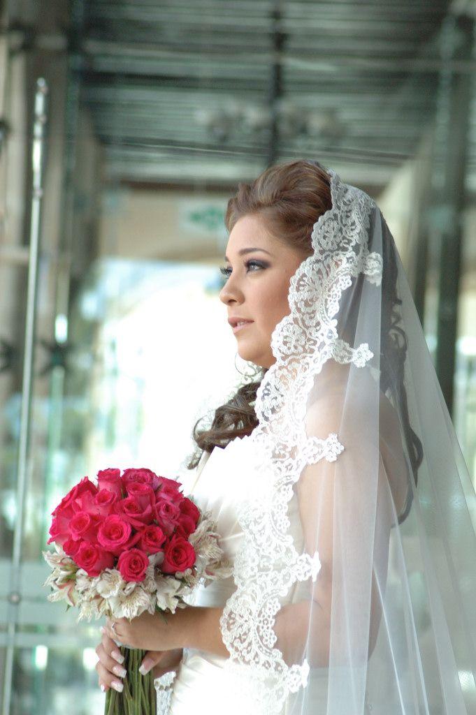 Mantilla Mexican Veil 3 Wedding Mexican Wedding Dress