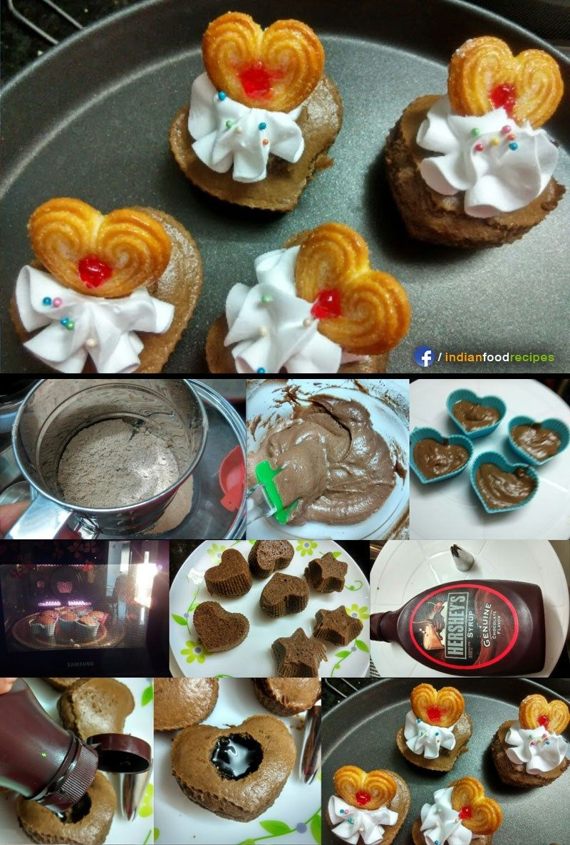 Eggless Chocolate Cupcakes With Center Surprise Recipe Step By