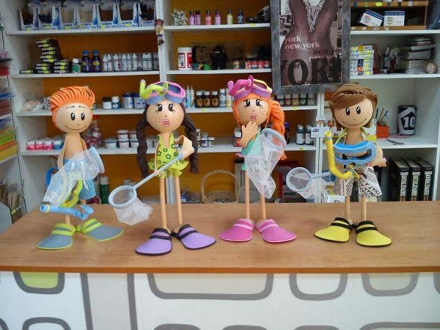 Fofuchas bañistas / Swimmers foam dolls