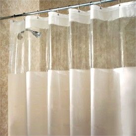Hitchcock Eva Ecopreme Stall Shower Curtain With Clear Window By