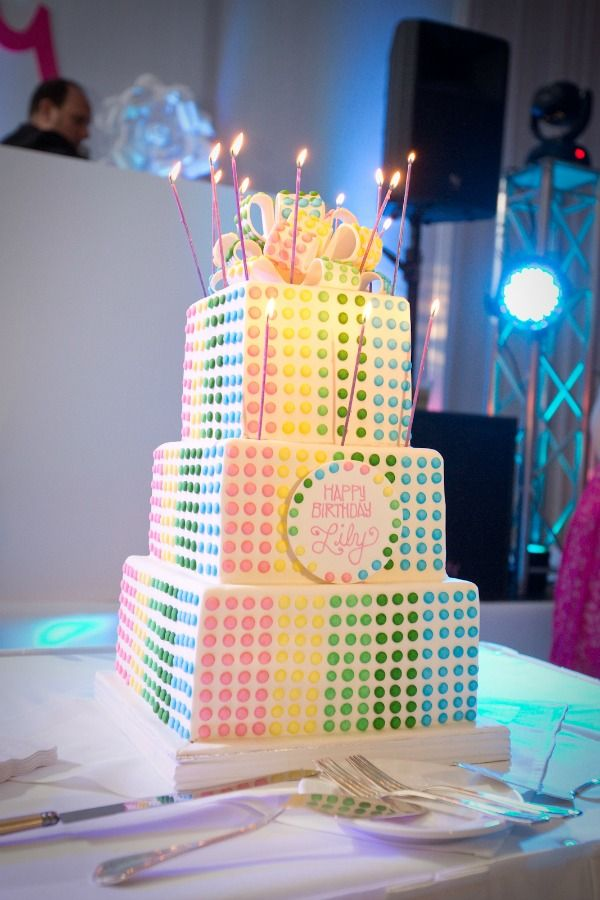 Cool Bat Mitzvah Cake Rainbow Retro Candy Buttons Bliss Events