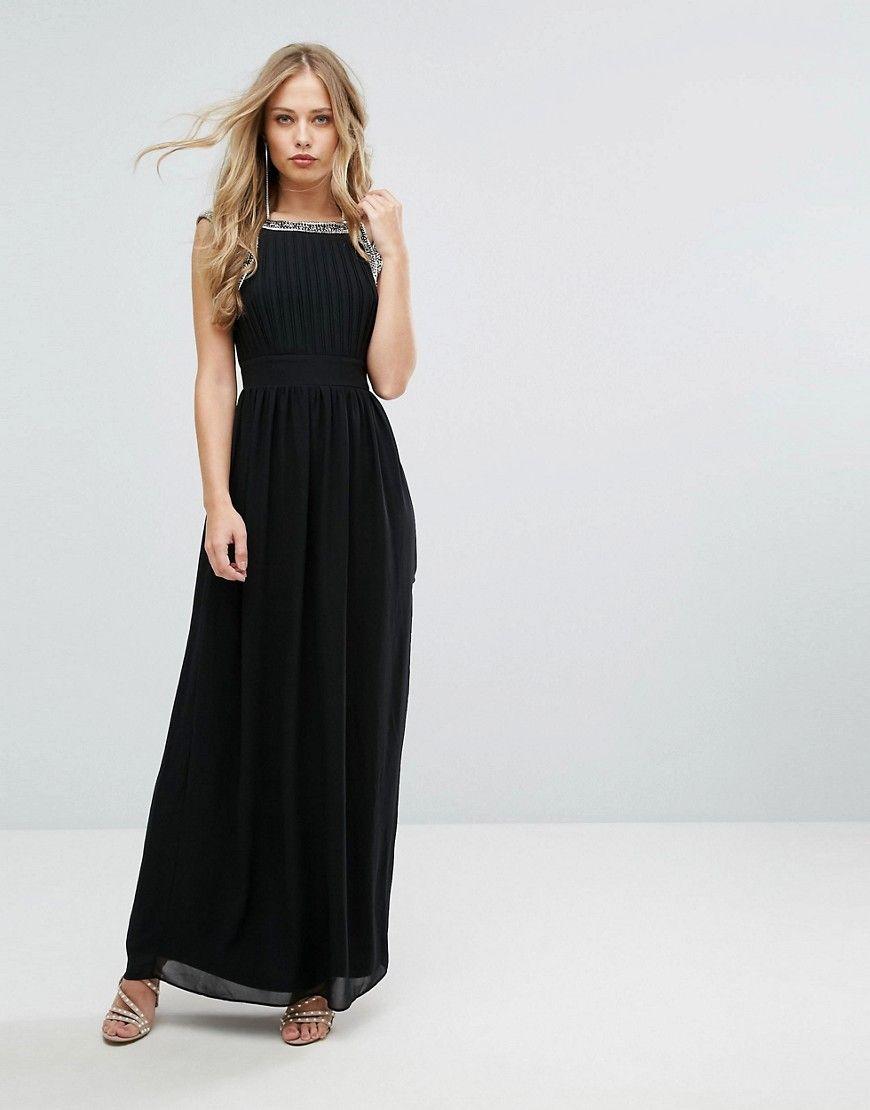 de8815a869 TFNC WEDDING Embellished Back Maxi Dress - Black
