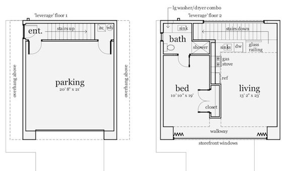 Modern Garage Apartment 784 Square Feet Tyree House Plans Garage Apartment Floor Plans Apartment Floor Plans Unique House Plans